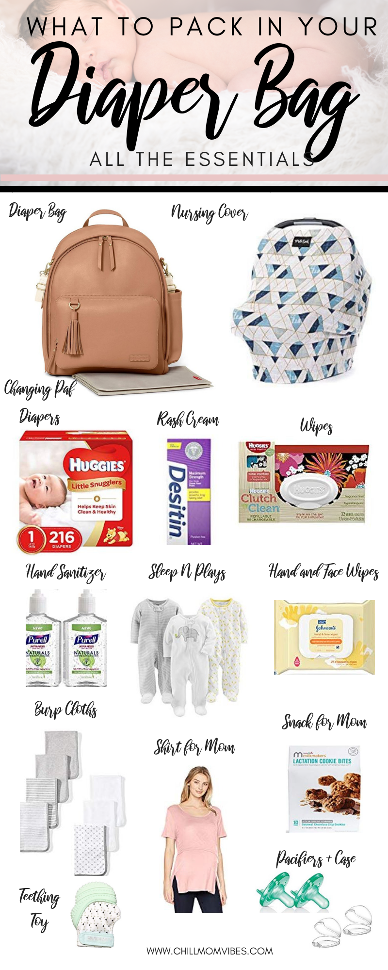 Ultimate List Of Diaper Bag Essentials Chill Mom Vibes